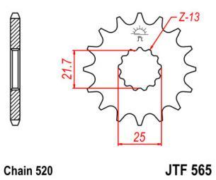 JTF565.15 Звезда ведущая 15 зубов