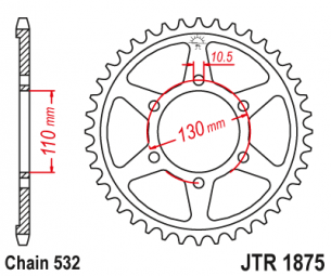 JTR1875.48 Звезда задняя 48 зубов