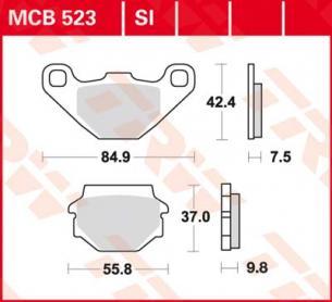 Тормозные колодки Lucas TRW MCB523SI