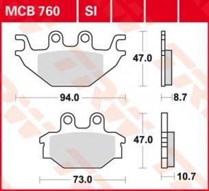 Колодки тормозные дисковые синтетические внедорожные TRW MCB760SI