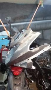 Восстановление геометрии на пластике на мотоцикле yamaha.
