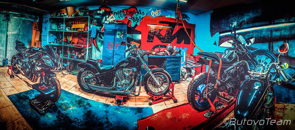 Ремонт мотоциклов в мастерской Бутовотим.